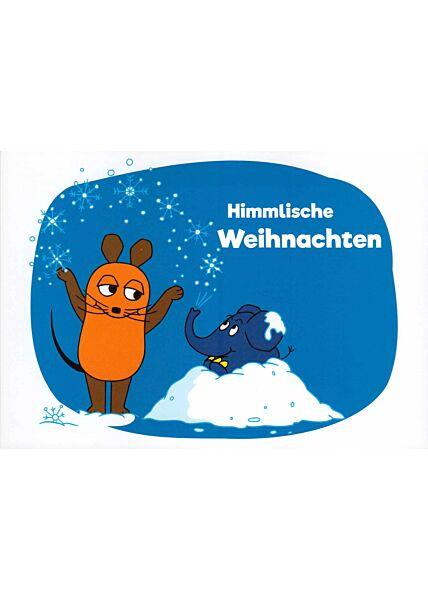 Maus-Postkarte Himmlische Weihnachten