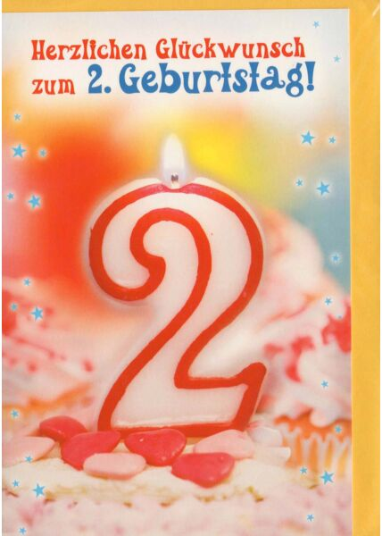 Karte 2 Geburtstag Herzlichen Glückwunsch zum 2 Geburtstag