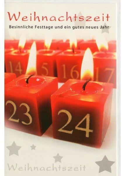 Weihnachtskarte Kerzen Adsventskalender