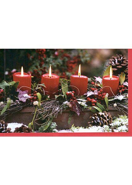 Foto Weihnachtskarte klassisch vier Kerzen