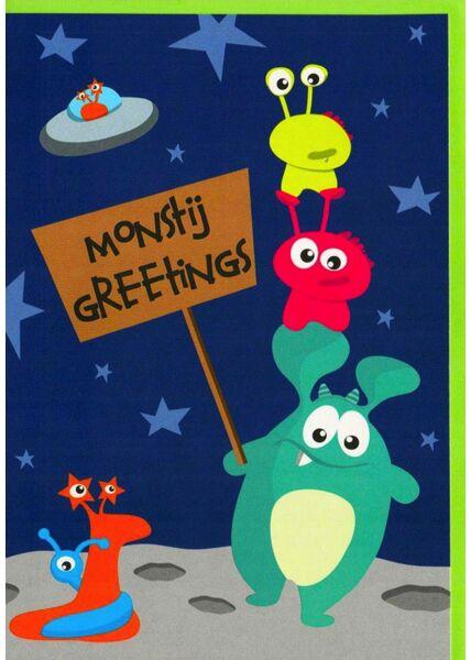 Geburtstagskarte Kinder Monstij Greetings