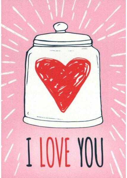 Postkarte Liebe I love you IV