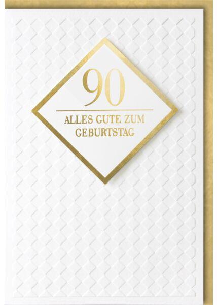 Geburtstagskarte 90 Jahre Premiumqualität Alles Gute