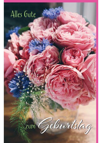 Glückwunschgrußkarte zum Geburtstag Blumenstrauß