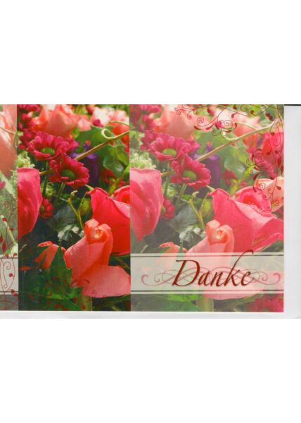 Dankes Grußkarte Blumenwiese