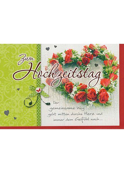 Glückwunschkarte zum Hochzeitstag mit schönem Spruch
