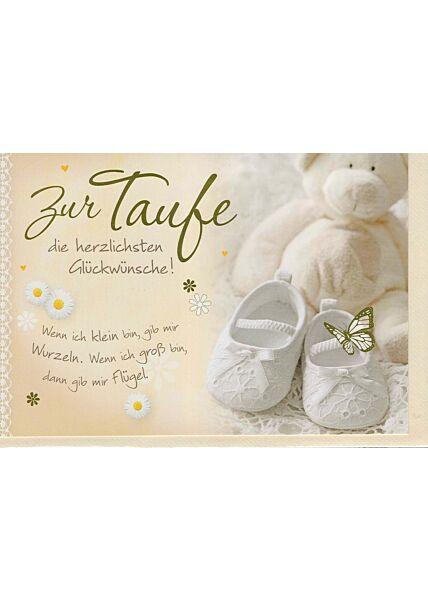 Glückwunschkarte Taufe: Wenn ich klein bin...