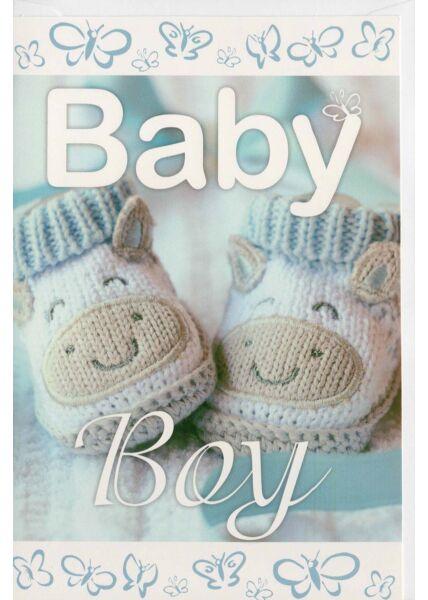 Baby Boy Glückwunschkarte Geburt Junge