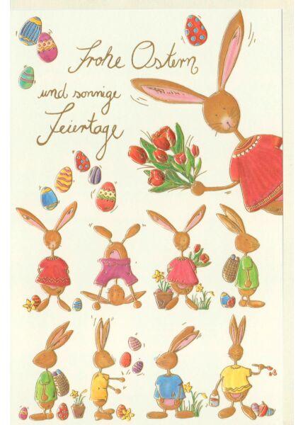 Osten Karte Frohe Ostern und sonnige Feiertage