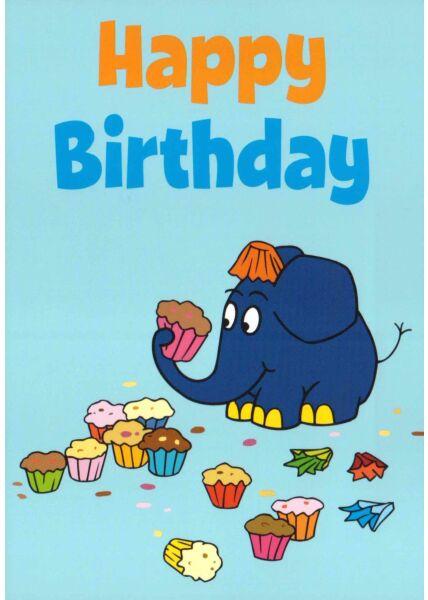Maus-Postkarte Geburtstag Happy Birthday