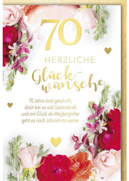 Geburtstagskarte 70 Jahre sind geschafft Premium