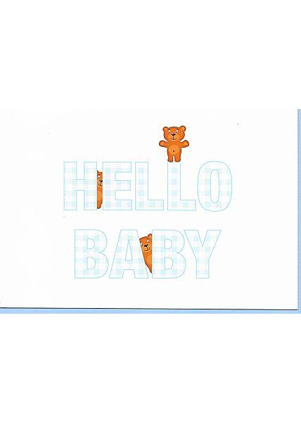 Glückwunschkarte Geburt Junge: Hello Baby