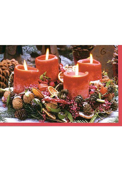 Weihnachtskarte mit Adventskranz ohne Text