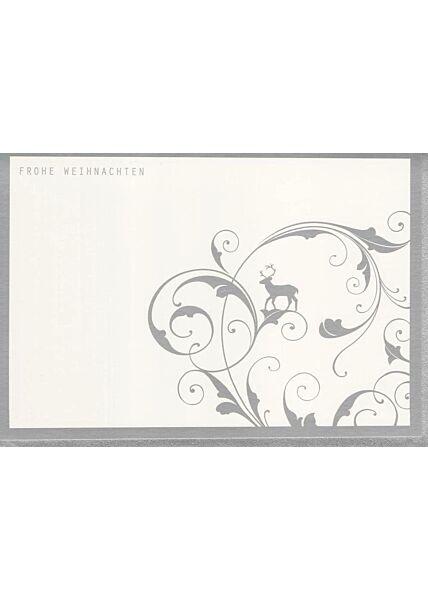 Weihnachtskarte premium Design Silberfolie