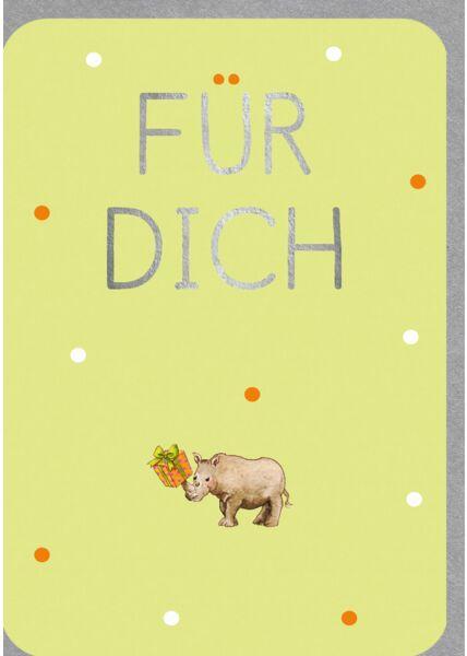 Geburtstagskarte Für Dich - Nashorn