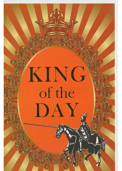 Geburtstagskarte King of the Day