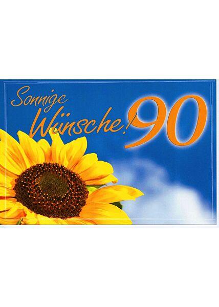 Karte Geburtstag 90 Jahre Sonneblume