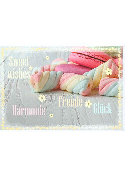 Grußkarte Sweet wishes