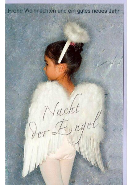 Weihnachtskarte Nacht der Engel