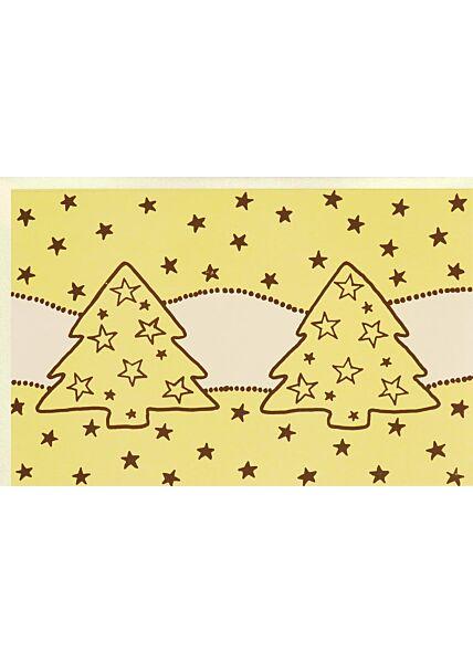 Premium Weihnachtskarte Folienprägung Business edles Papier