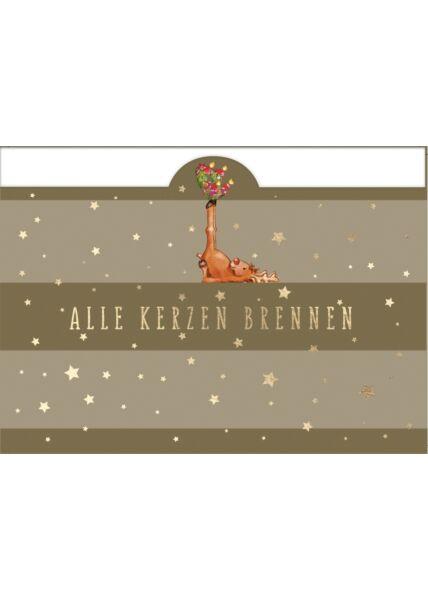 Weihnachtspostkarte Alle Kerzen brennen