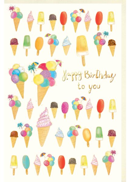 Glückwunschkarte Geburtstag premium: Eis