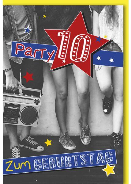 Geburtstagskarten für Kinder 10 Jahre Party