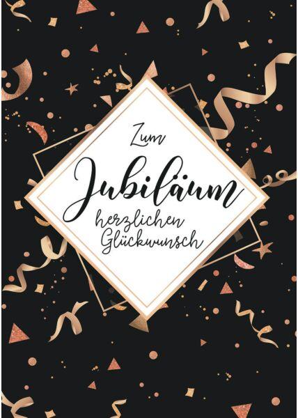 A4 Maxi Jubiläumskarte Zum Jubiläum herzlichen Glückwunsch