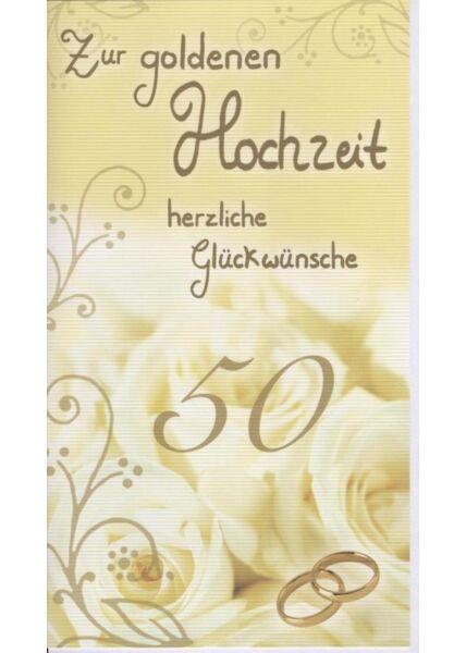 Maxi Glückwunschkarte Goldhochzeit groß: Zur goldenen Hochzeit