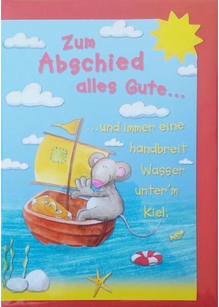 """Abschiedskarte: """"Zum Abschied alles Gute..."""""""