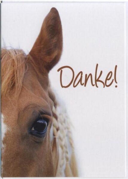Danksagungskarte Pferd, Tiermotiv: Danke!