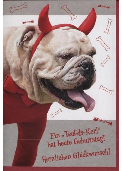 """Geburtstagskarte lustig: """"Ein Teufelskerl hat Geburtstag"""""""