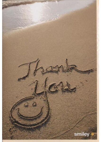 "Dankeskarte │ Danksagungskarte: ""Danke"" Smiley"