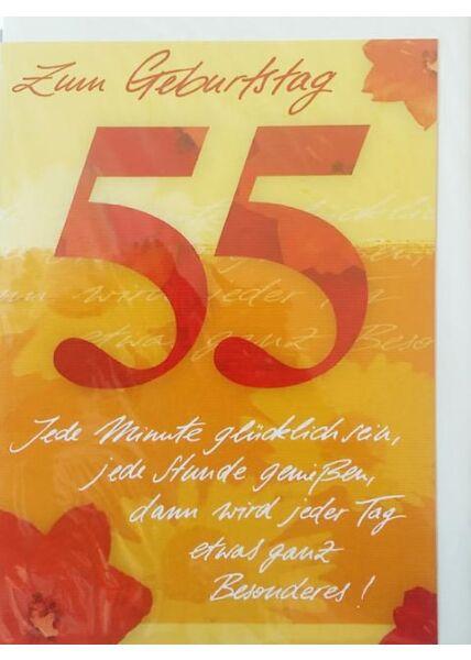 """Geburtstagskarte 55 Jahre: """"Zum Geburtstag 55"""""""