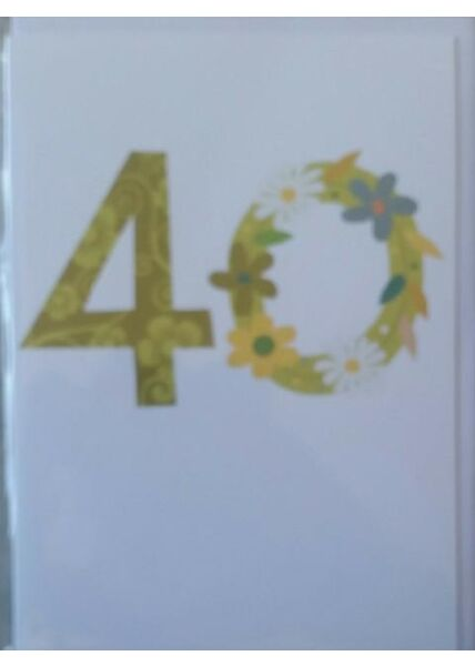 """Geburtstagskarte 40 Jahre: """"40"""""""