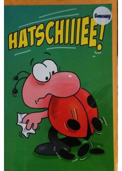 """Genesungskarte: """"Hatschiiiieee"""""""