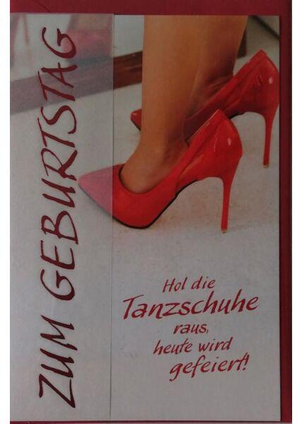 """Geburtstagskarte Frauen: """"Zum Geburtstag"""" Tanzschuhe"""