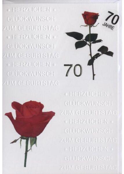 """Geburtstagskarte 70 Jahre: """"Herzlichen Glückwunsch"""""""