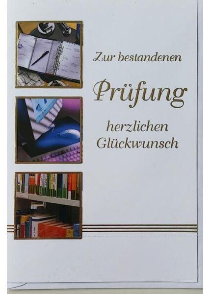 """Glückwunschkarte Abitur / Prüfung: """"Zur bestandenen Prüfung"""""""