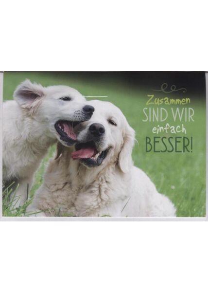 """Grusskarte Liebe: """"Zusammen sind wir einfach besser!"""""""