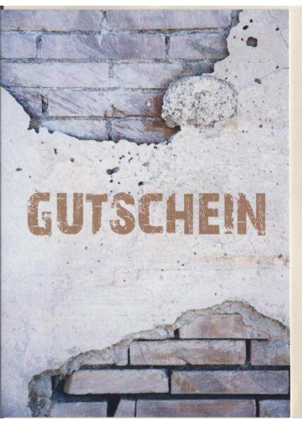 """Gutscheinkarte: """"Gutschein"""""""