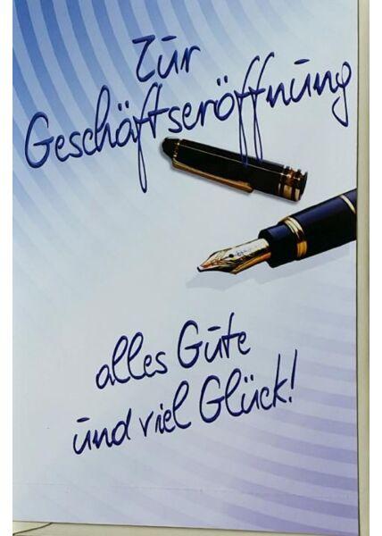 """Business Grußkarte: """"Zur Geschäftseröffnung alles Gute und viel Glück"""""""