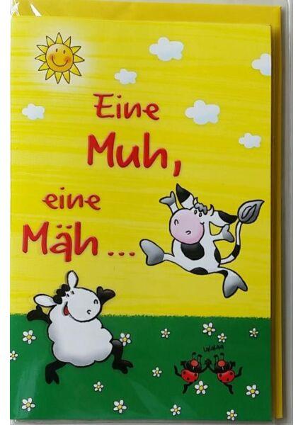"""Glückwunschkarte mit Innentext: """"Tätärtätääääääää"""""""