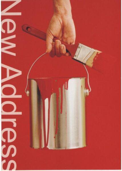 Fröhliche Postkarte: New Adress
