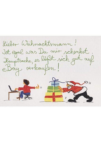 Weihnachtspostkarte lustig