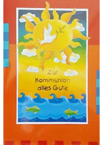 """Karte zur Kommunion: """"Alles Gute"""" Taube"""