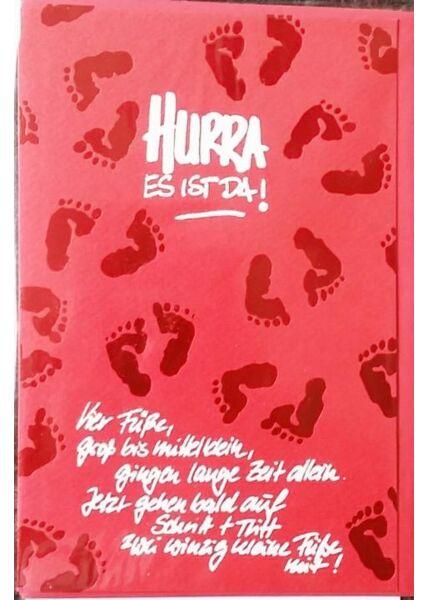 """Karte Geburt Baby Junge: """"Hurra es ist da!"""""""