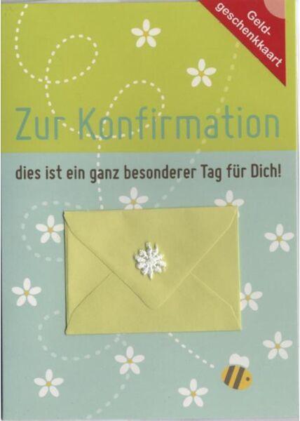 Konfirmationskarte: Zur Konfirmation, Geldgeschenkkarte