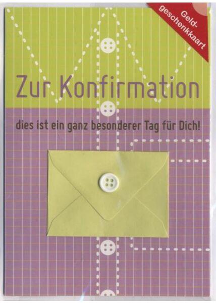 Konfirmationskarte: Zur Konfirmation, Geldgeschenkkarte Mädchen