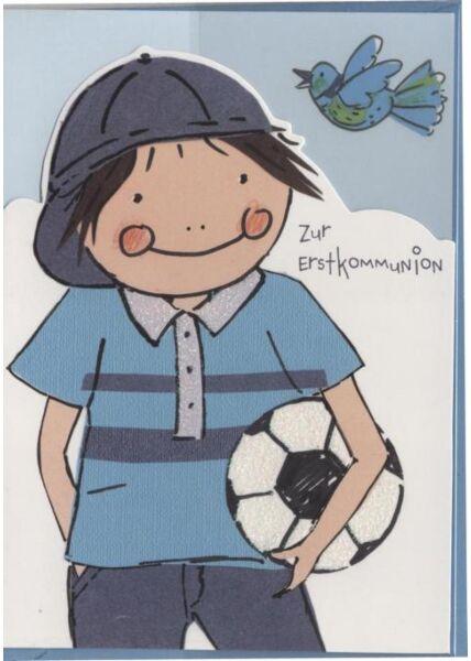 Kommunionskarte: Zur Erstkommunion, Jungen